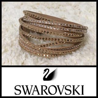 スワロフスキー(SWAROVSKI)の*SWAROVSKI*ダブルラップブレスレット/二重巻き(ブレスレット/バングル)