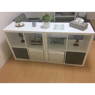 f301195a13ed0 イケア(IKEA)のシェルフユニット+収納ボックスx4(棚 ラック