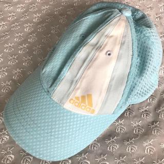 アディダス(adidas)の【adidas】キッズ アディダス 帽子 メッシュ キャップ ★ 水色✖️白(帽子)