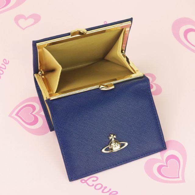Vivienne Westwood(ヴィヴィアンウエストウッド)のヴィヴィアンウエストウッド 折財布 がま口財布 ブルー レディースのファッション小物(財布)の商品写真
