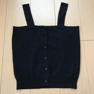 GU - 《GU》ニットキャミソール Mサイズ ブラック