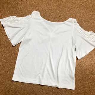 ジーユー(GU)のGU 肩だし トップス(カットソー(半袖/袖なし))