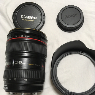 Canon - キヤノン EF24-105mm F4L IS 使用少 美品 フード フィルター