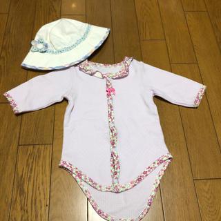 Nishiki Baby - 花柄帽子と長袖二点セット