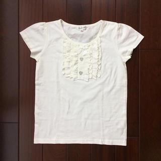 エニィファム(anyFAM)のanyFAM カットソー 白 150(Tシャツ/カットソー)