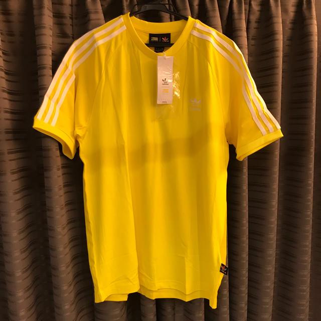 adidas(アディダス)の★新品★アディダスオリジナルス 3ライン Tシャツ ファレルウィリアムス 黄色 メンズのトップス(Tシャツ/カットソー(半袖/袖なし))の商品写真