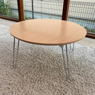 ニトリ(ニトリ)のニトリ 丸型 折りたたみローテーブル(折たたみテーブル)