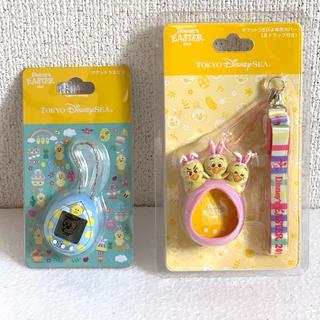 Disney - 新発売☆ディズニーシーポケットうさピヨ・本体・カバーストラップセット・(ピンク)