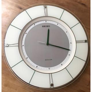 SEIKO - SEIKO ソーラー電波時計 壁掛け時計