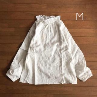 SM2 - 新品◎サマンサモスモス フリル衿ブラウス M オフホワイト