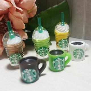 スターバックスコーヒー(Starbucks Coffee)のミニチュア スターバックス 6点セット フラペチーノ(各種パーツ)