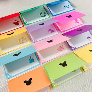 ディズニー メッセージカード 2つ折り(カード/レター/ラッピング)