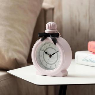 フランフラン(Francfranc)のFrancfrance クラシカル テーブルクロック アラーム時計 ピンク(置時計)