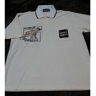 Noble Viento 犬柄刺繍 ポロシャツ M タグなし未使用
