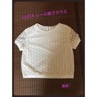 ルカ(LUCA)のLUCA レース柄Tシャツブラウス 美品!(シャツ/ブラウス(半袖/袖なし))