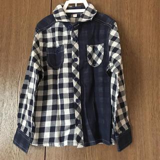 ニシマツヤ(西松屋)の新品未使用 綿100 チェックシャツ(ブラウス)