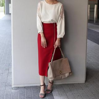 ノーブル(Noble)のNoble ラップスカート ジップタイトスカート レッド(ロングスカート)
