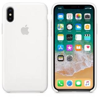 Apple - iPhoneX iPhoneXS純正シリコーンケース ホワイト
