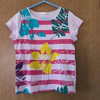 ジーユー(GU)の女児 Tシャツ 130サイズ(Tシャツ/カットソー)