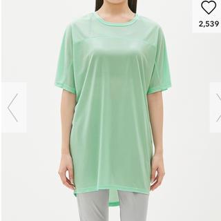 ジーユー(GU)の【新品】GU スポーツチュニック 吸水速乾素材 半袖シャツ(Tシャツ(半袖/袖なし))