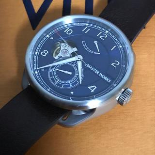 セイコー(SEIKO)のマスターワークス クアトロ001 時計 自動巻 革ベルト メンズ時計 裏スケ(腕時計(アナログ))