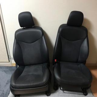 トヨタ(トヨタ)の 30プリウス 後期 純正 ハーフレザー パワーシート 運転席 助手席(車種別パーツ)