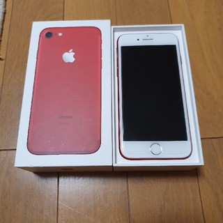 iPhone - iPhone7 128GB 限定色 product red SIMフリー 美品