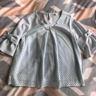 シマムラ(しまむら)のリボン袖ブラウス M(シャツ/ブラウス(長袖/七分))