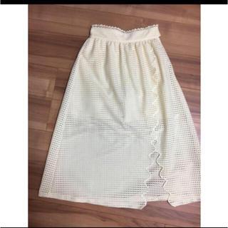 1c532ee0274ec スナイデル(snidel)のsnidel 即完売品 スカラップ スカート パンツ(ロングスカート)