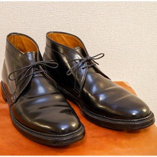 オールデン(Alden)の【美品】Alden オールデン 1340 チャッカ ブラック US8.5D (ドレス/ビジネス)