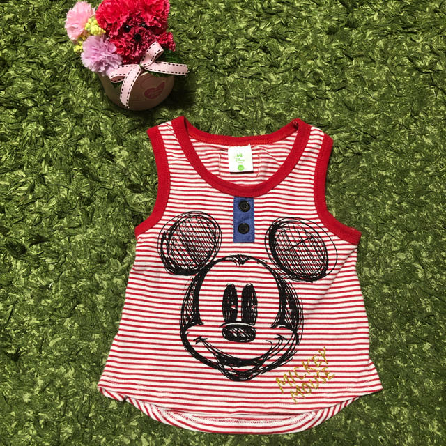 Disney(ディズニー)の【1度だけ着用】ベビー タンクトップ キッズ/ベビー/マタニティのベビー服(~85cm)(タンクトップ/キャミソール)の商品写真