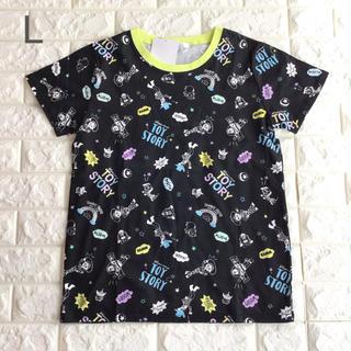 トイストーリー(トイ・ストーリー)の【 L 】トイストーリー 総柄 半袖 Tシャツ 黒(Tシャツ(半袖/袖なし))