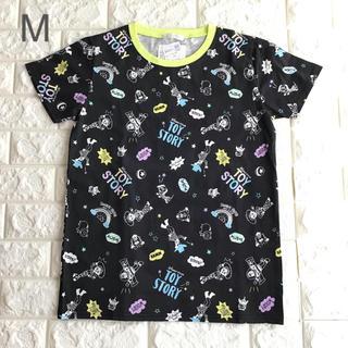 トイストーリー(トイ・ストーリー)の【 M 】トイストーリー 総柄 半袖 Tシャツ 黒(Tシャツ(半袖/袖なし))