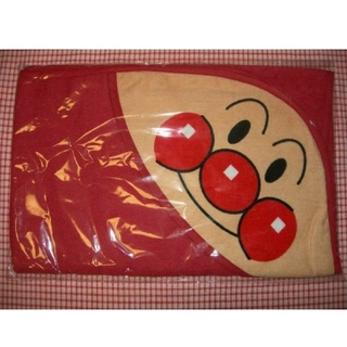 アンパンマン(アンパンマン)のアンパンマン☆フード付きタオル☆70㎝×70cm☆綿100%☆新品・送料込み(タオル/バス用品)