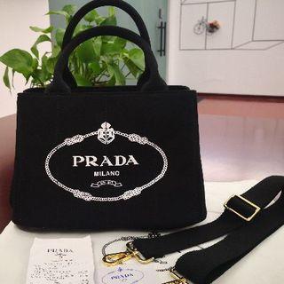 PRADA - PRADA プラダ カナパ S ブラック