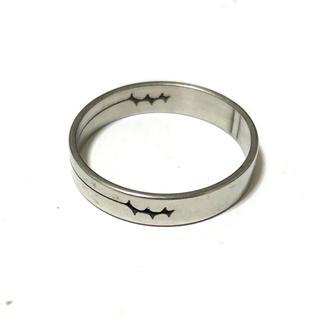 同時購入で300円 ステンレス指輪 棘(リング(指輪))