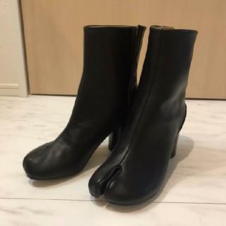 マルタンマルジェラ(Maison Martin Margiela)のMargiela マルジェラ 足袋ブーツ ブラック たび 新品!38 (バレエシューズ)