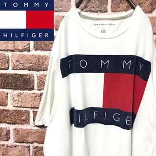 TOMMY HILFIGER - 【激レア】トミーヒルフィガー超ビッグフラッグロゴ腕に刺繍ロゴビッグサイズTシャツ