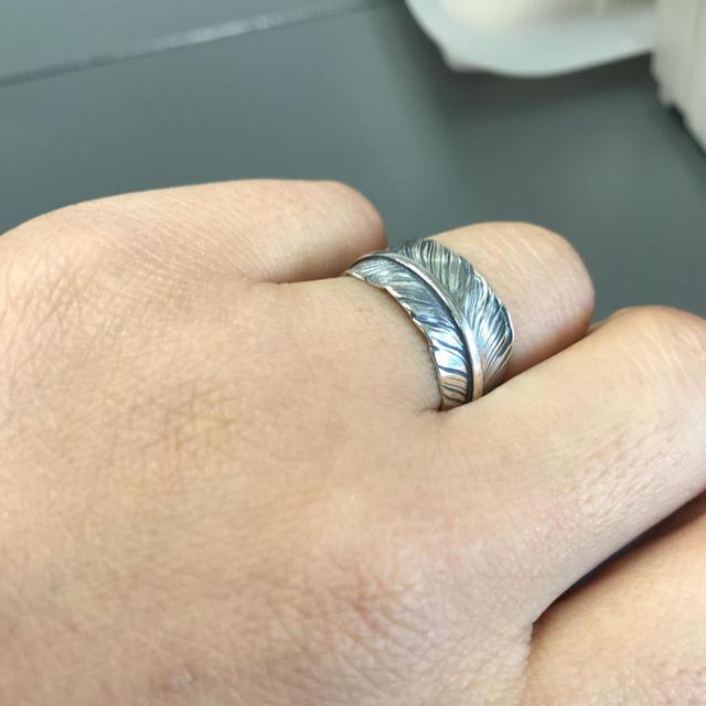 シルバー925、シルバー フェザーリング、シルバーリング、003 メンズのアクセサリー(リング(指輪))の商品写真