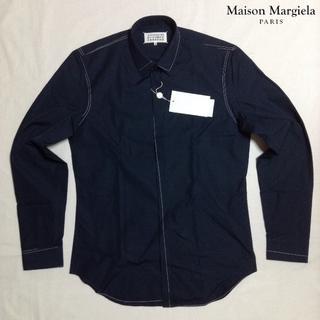 マルタンマルジェラ(Maison Martin Margiela)の新品■紺■40■マルジェラ 17aw■スティッチ ドレス シャツ■M■5529(シャツ)