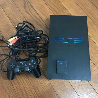 プレイステーション2(PlayStation2)のPS2 厚型 プレステ2 本体 黒 ブラック SCPH-30000 中古 美品(家庭用ゲーム本体)