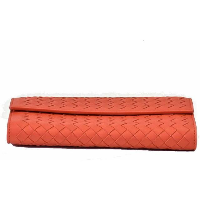 Bottega Veneta(ボッテガヴェネタ)のBOTTEGA VENETA ボッテガヴェネタ 長財布 オレンジ レディースのファッション小物(財布)の商品写真