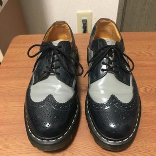 ドクターマーチン(Dr.Martens)の美品 ドクターマーチン ウィングチップ ネイビー×グレー uk8(ブーツ)