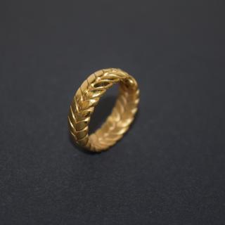 フェザー リング 指輪 ステンレス 316L ゴールド 羽 ストリート リーフ(リング(指輪))