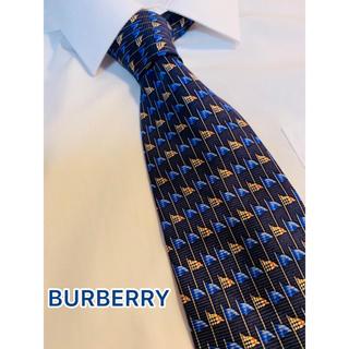 BURBERRY - 【69】BURBERRY LONDON バーバリー ネクタイ ブルー