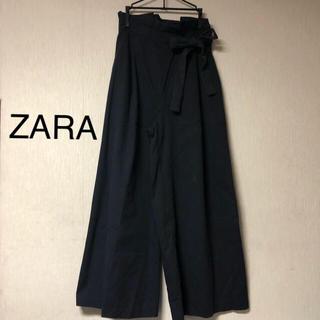 ZARA - ハイウエスト ワイドパンツ