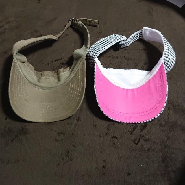 adidas(アディダス)の専用!2点セット サンバイザー(アディダス、 ディアドラ) レディースの帽子(その他)の商品写真