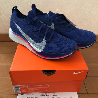 NIKE - NIKE VAPORFLY 4% NEW COLOR BLUE 27.5cm