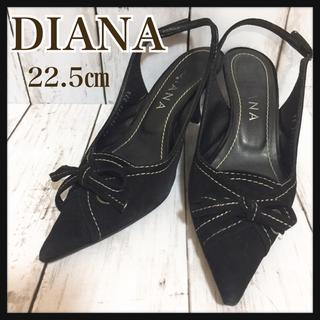 ダイアナ(DIANA)のDIANA ダイアナ★サンダル パンプス★黒 ブラック★22.5㎝★スエード(サンダル)