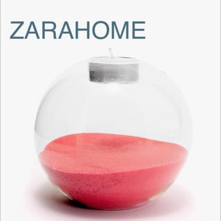ザラホーム(ZARA HOME)の新品未使用 ザラホーム ガラス キャンドルスタンド キャンドルホルダー(アロマ/キャンドル)